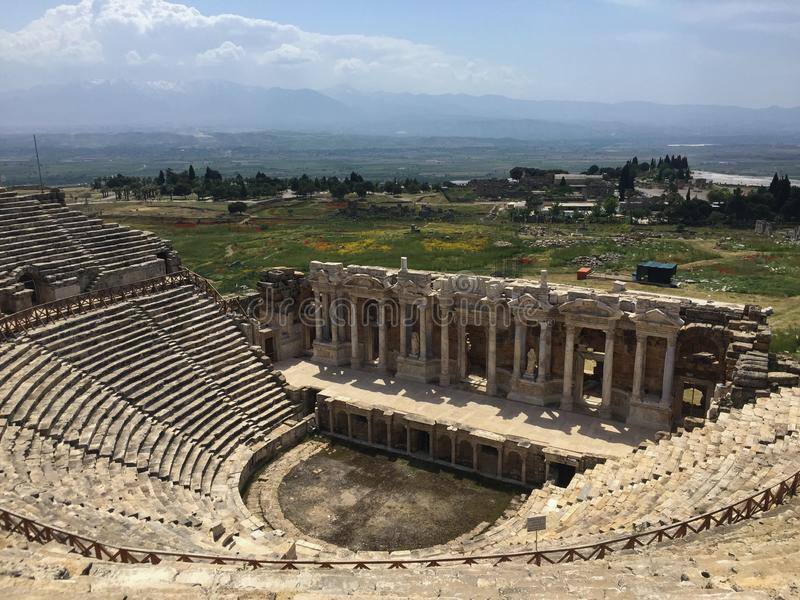 Cette image a été prise du haut du théâtre d'Ephesus en Turquie image stock