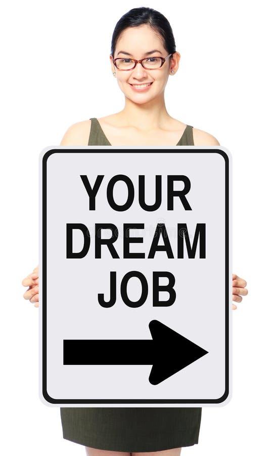 Cette manière à votre travail rêveur photos stock