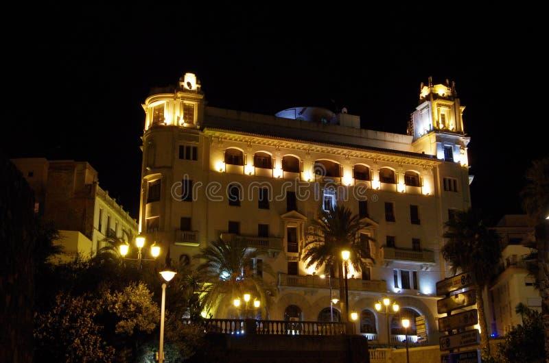 Ceuta bis zum Nacht stockfotografie