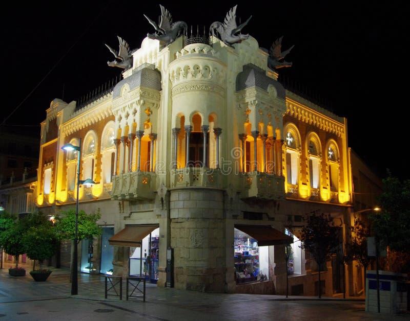 Ceuta por noche imagen de archivo