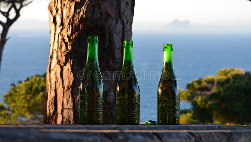 Ceuta Spain, view to the Gibraltar royalty free stock image