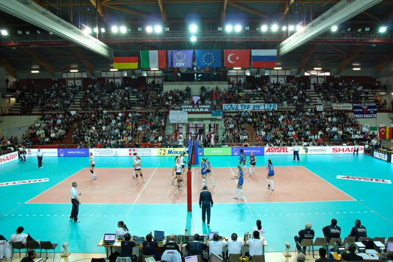 CEV, European Volleyball Women Cup royalty free stock images
