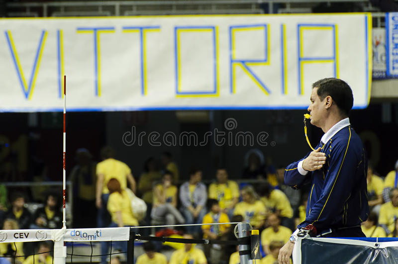 CEV Volley Champions League 2010/2011 Final Four royalty free stock image