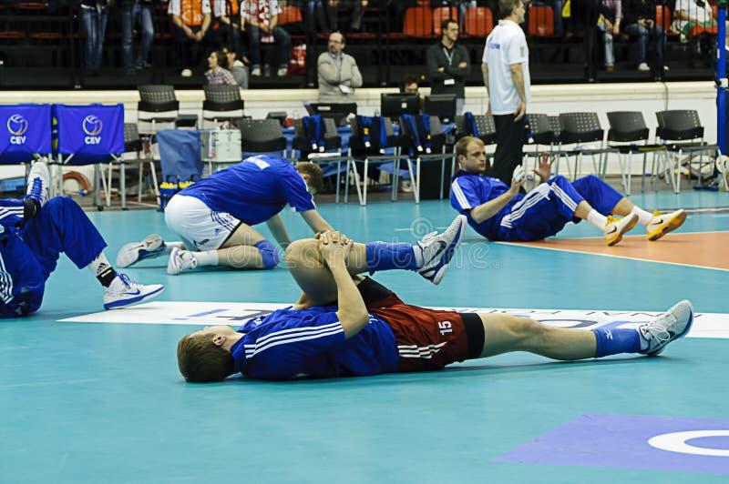 CEV Volley Champions League 2010/2011 Final Four stock photos