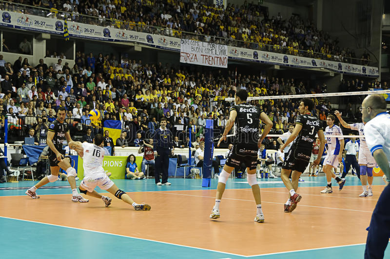 CEV Volley Champions League 2010/2011 Final Four stock images