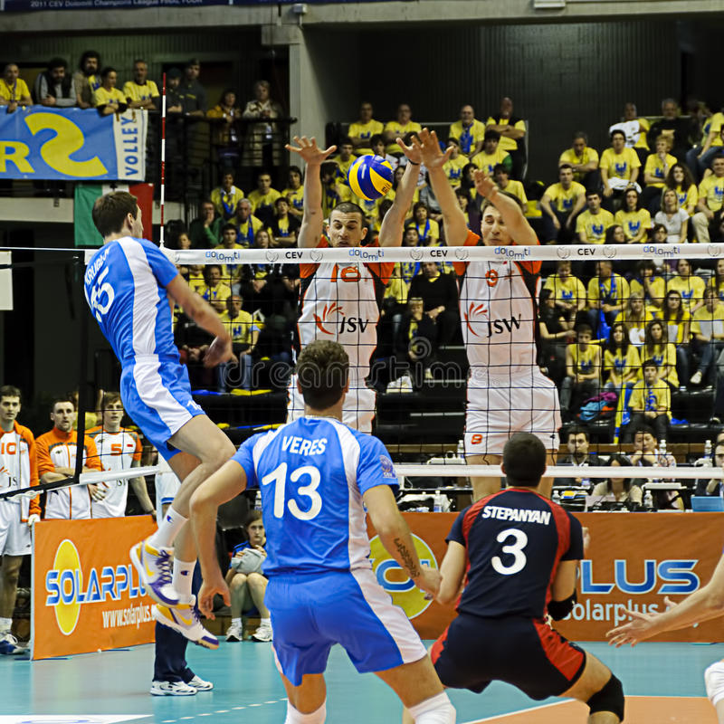 CEV Volley Champions League 2010/2011 Final Four royalty free stock photos
