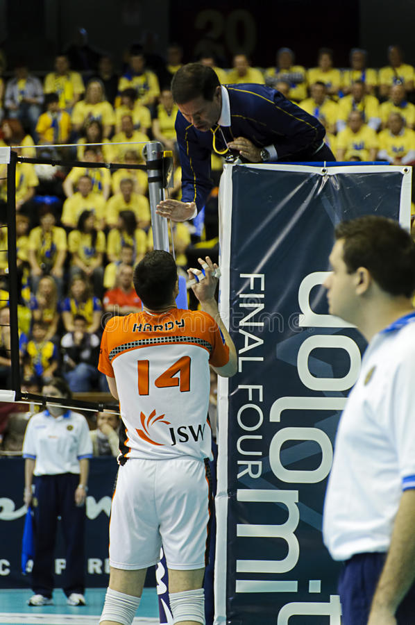 CEV Volley Champions League 2010/2011 Final Four royalty free stock images