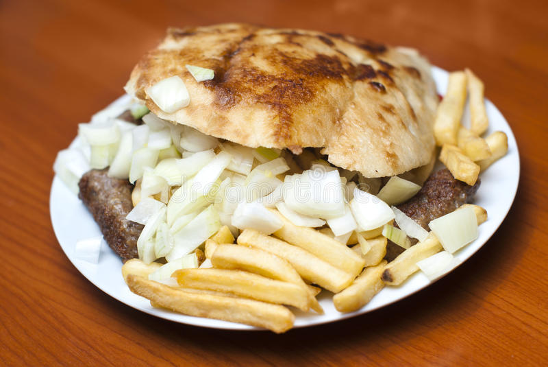 Cevap (kebab) - balkan meal royalty free stock photography
