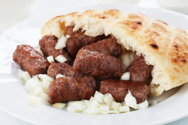 Cevapcici, босниец семенило kebab мяса стоковая фотография rf