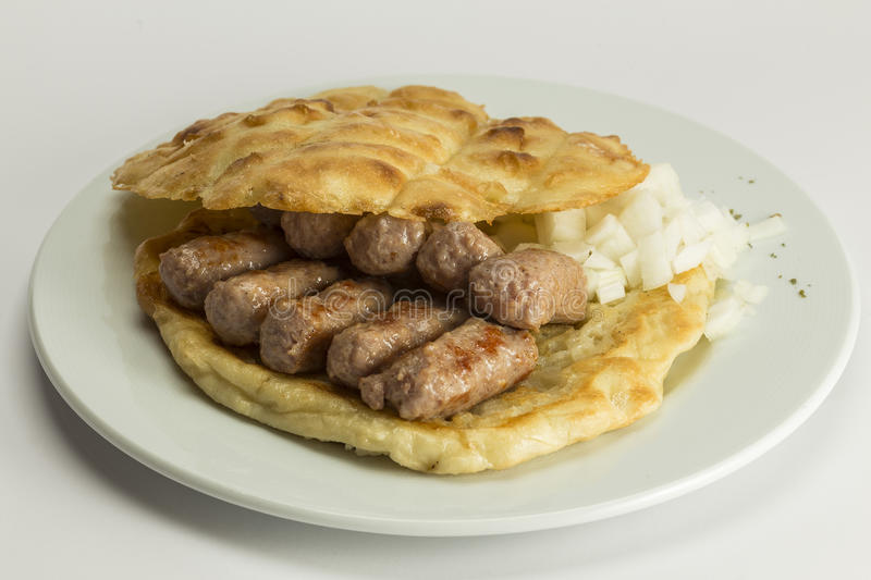 Cevapcici. Served in a plate stock images