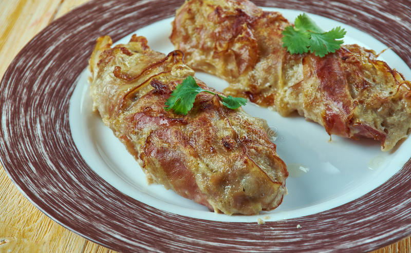 Cevapi skinless sausage. Cevapi - grilled dish of minced meat, a type of skinless sausage, found traditionally in the countries of southeastern Europe , Balkans stock photography