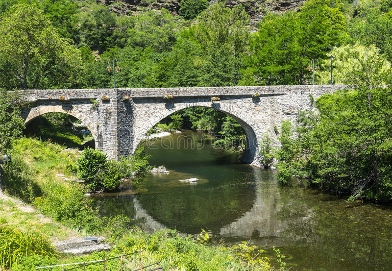 Download Cevennes: old bridge stock image. Image of color, cevennes - 34570995