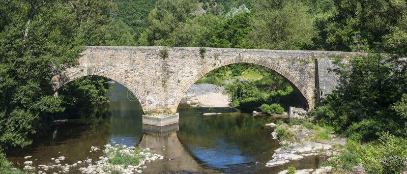 Cevennes: Old Bridge Stock Images