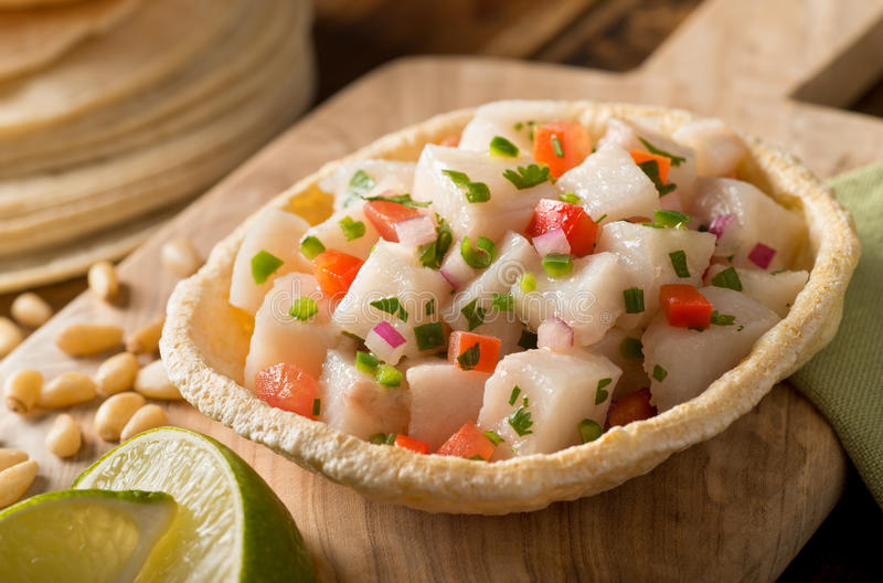 Ceviche photographie stock