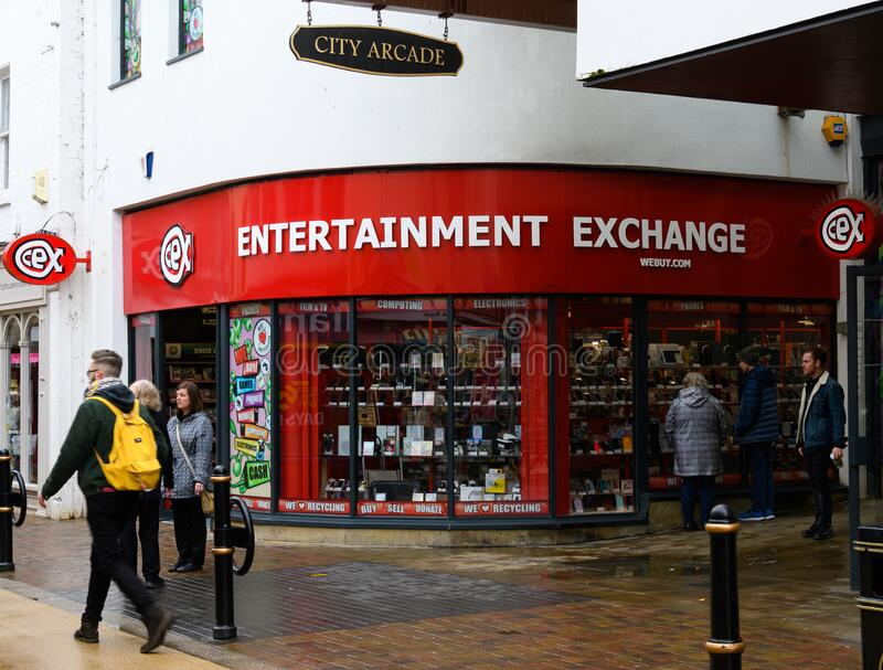 CEX Store Worcester. Worcester, United Kingdom - March 15 2020:  The frontage of CEX Second hand electronics store on the Shambles stock photo
