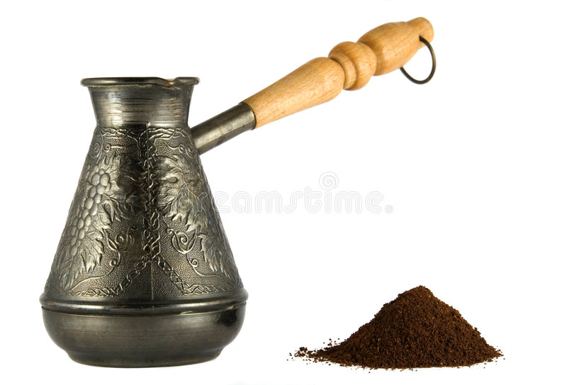 Download Cezve with coffee powder stock photo. Image of design - 7167950