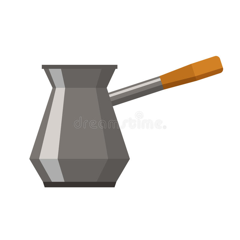 Cezve für Kaffee stock abbildung