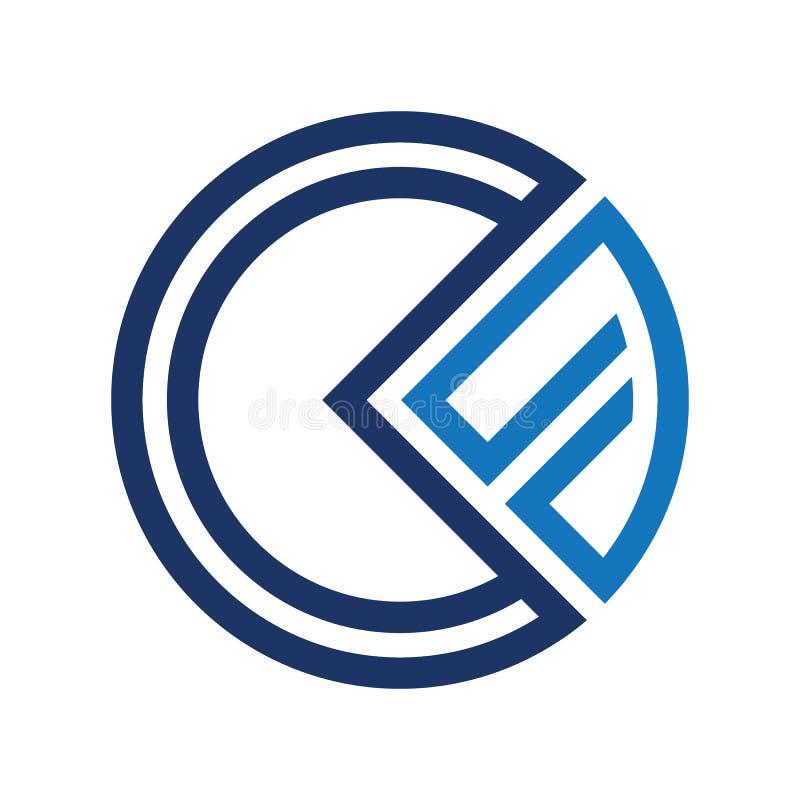 CF-Logo Schablone vektor abbildung