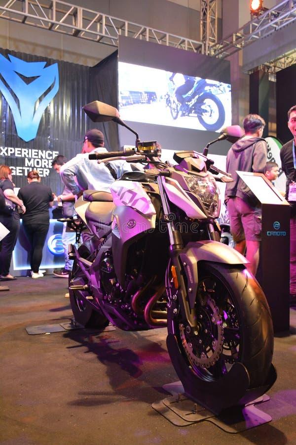 CF Moto Motorrad bei Makina Moto in Pasay, Philippinen lizenzfreie stockfotografie