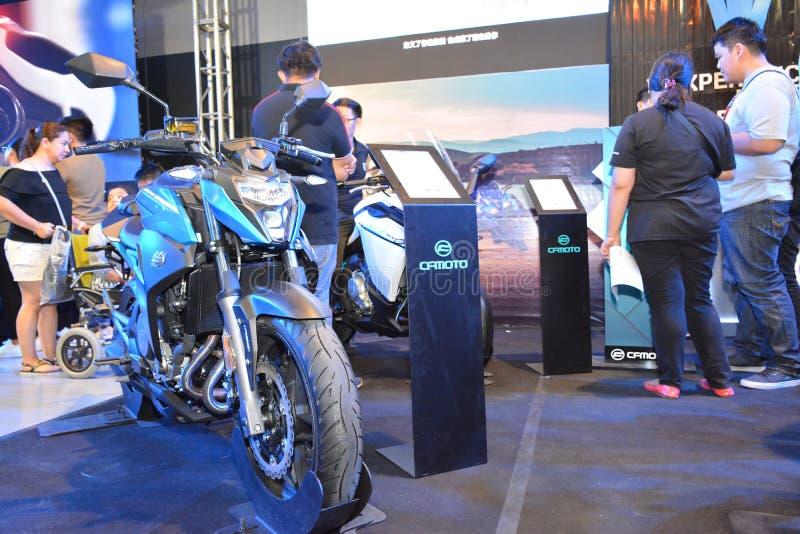 CF Moto Motorrad bei Makina Moto in Pasay, Philippinen stockbilder