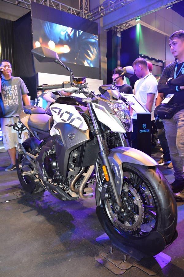 CF Moto Motorrad bei Makina Moto in Pasay, Philippinen lizenzfreies stockbild