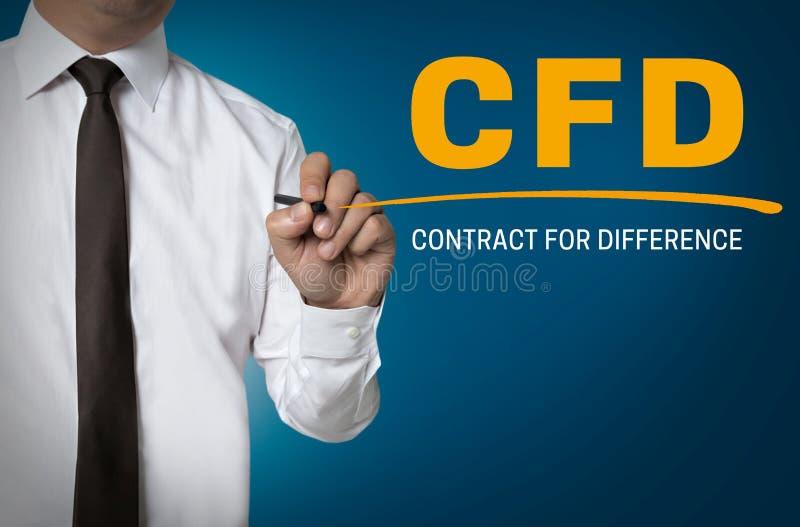 CFD由商人背景写 免版税库存图片