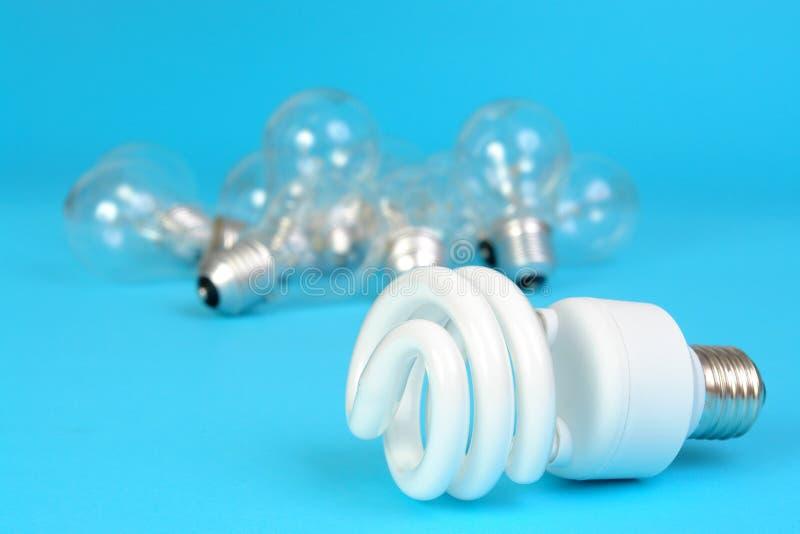 CFL und Glühbirnen lizenzfreies stockfoto