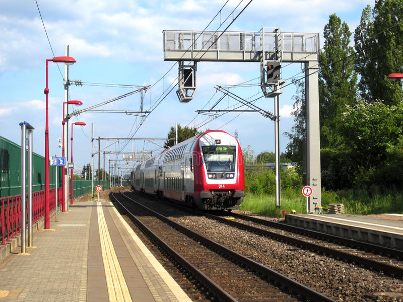 CFL-Zug in Luxemburg lizenzfreies stockbild