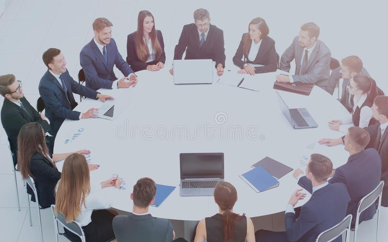 CFO And Business Team Gathered At The Round Table, To ...
