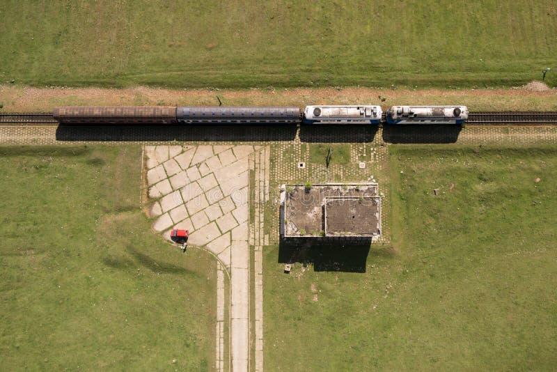 CFR-Forenzentrein met twee locomotieven stock foto's