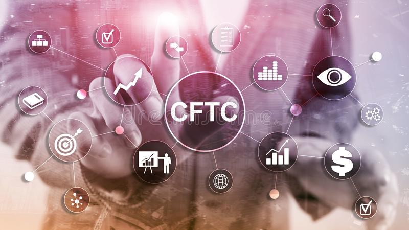 CFTC u.s. commodity futures trading commission business finance regulation concept. CFTC u.s. commodity futures trading commission business finance regulation stock images
