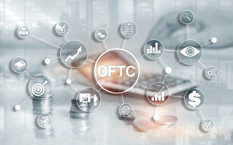 CFTC u.s. commodity futures trading commission business finance regulation concept. CFTC u.s. commodity futures trading commission business finance regulation royalty free stock photo