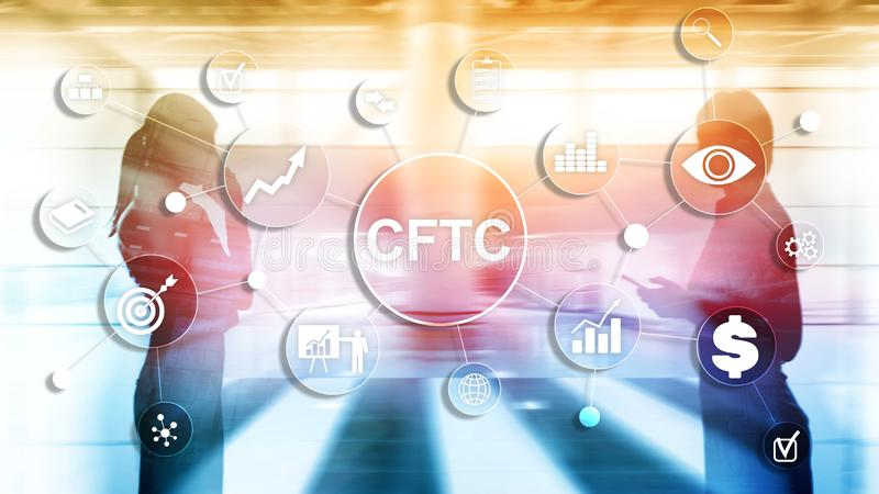 CFTC u.s. commodity futures trading commission business finance regulation concept. royalty free stock images