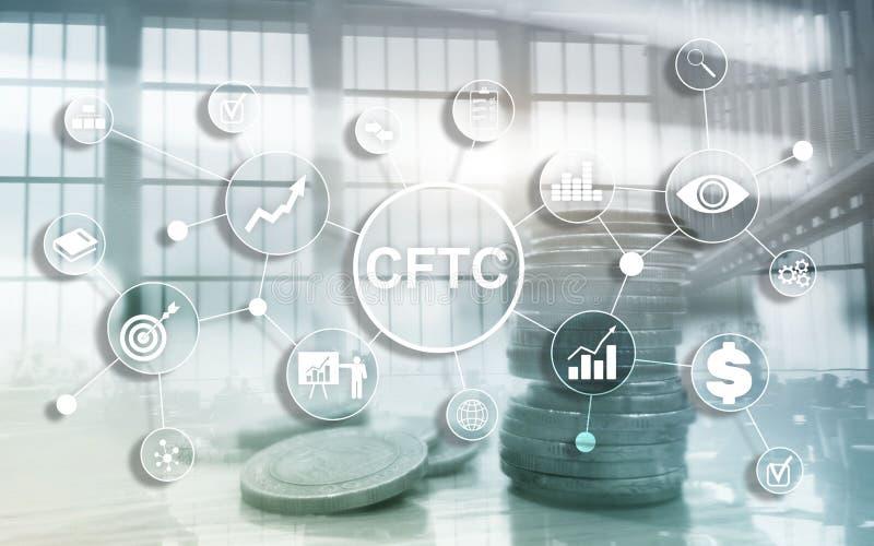 CFTC-u S goederentoekomst die commissie bedrijfsfinanci?nregelgeving concept uitwisselen stock illustratie