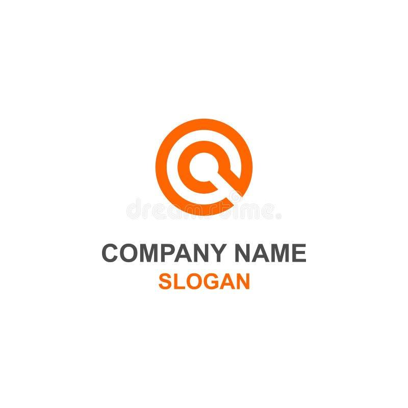 CG-brieven aanvankelijk embleem stock illustratie