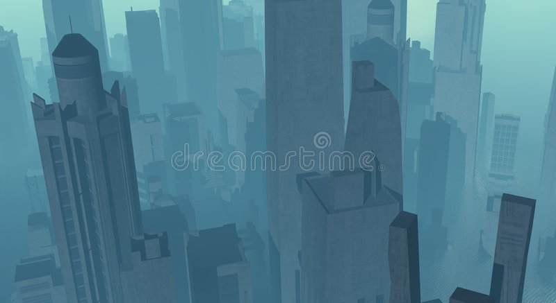 Cg City Royalty Free Stock Images