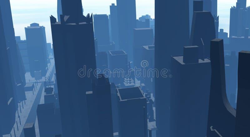 Download Cg city stock illustration. Image of orange, future, sundown - 4168924
