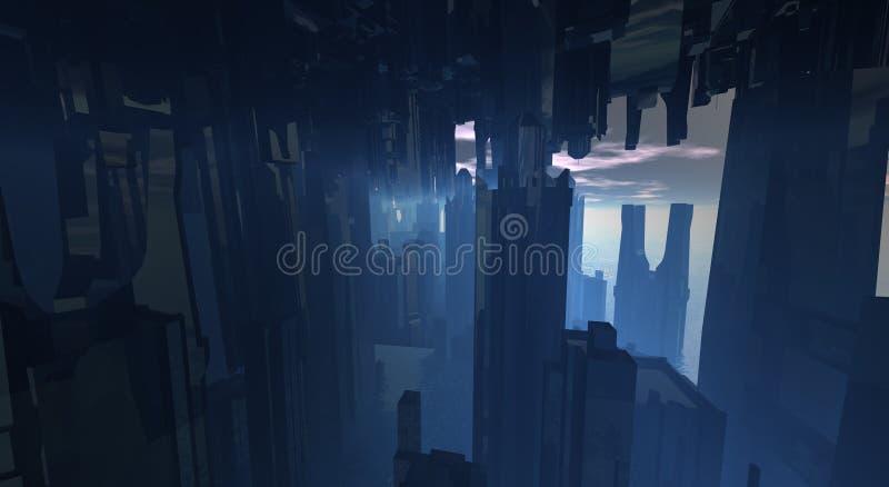 Cg city vector illustration