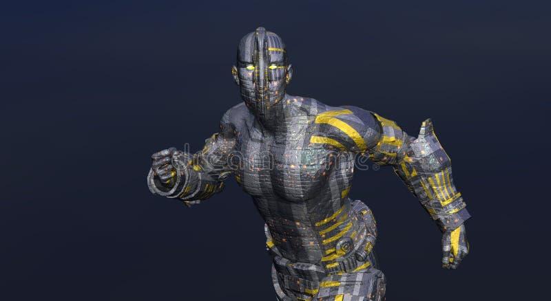 cg cyber - człowieku ilustracji