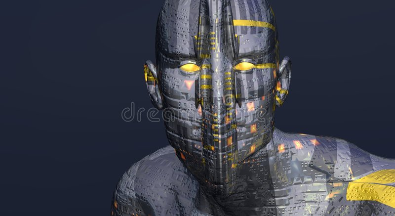 Download Cg cyborg man stock illustration. Illustration of power - 4168852