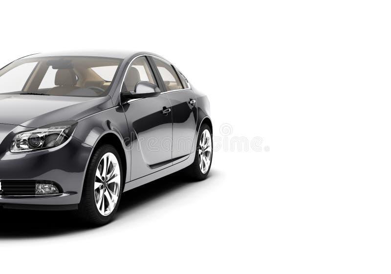 CG 3d представляет родовой роскошной спортивной машины изолированной на белой предпосылке Графическая иллюстрация стоковое фото