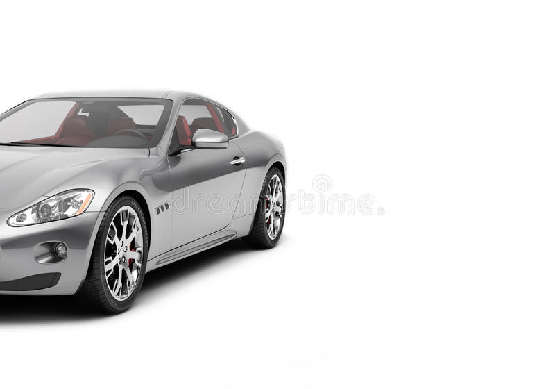 CG 3d render of generic luxury sport car isolated on a white background. Graphic illustration stock illustration
