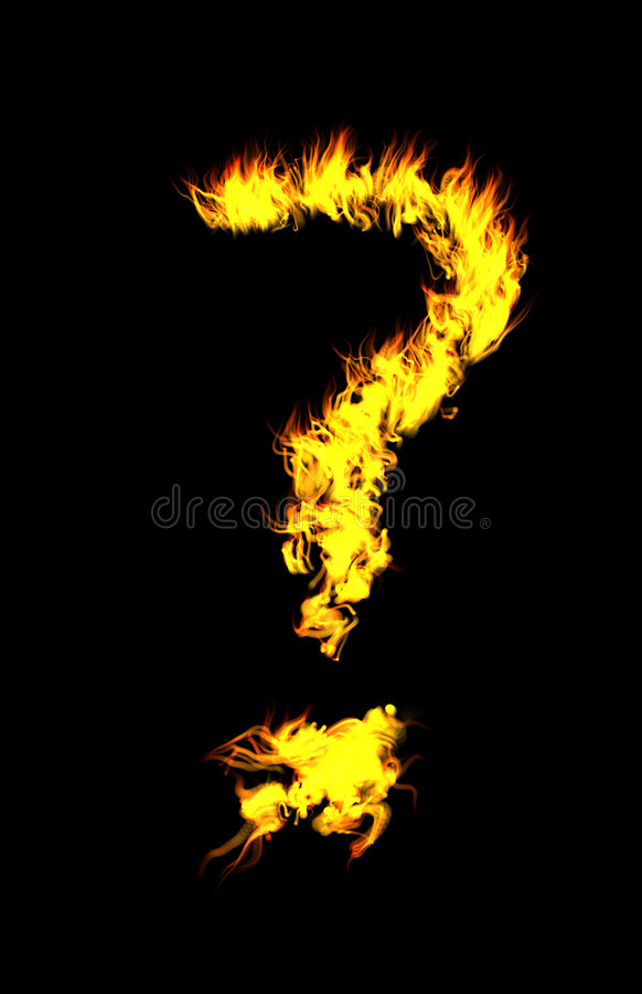 CG? Flama imagem de stock royalty free