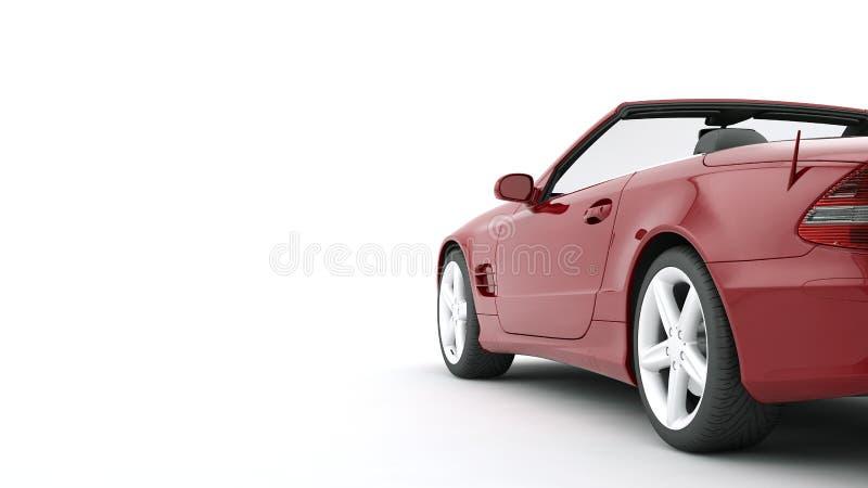 CG geeft van de generische auto van de luxecoupé terug stock illustratie
