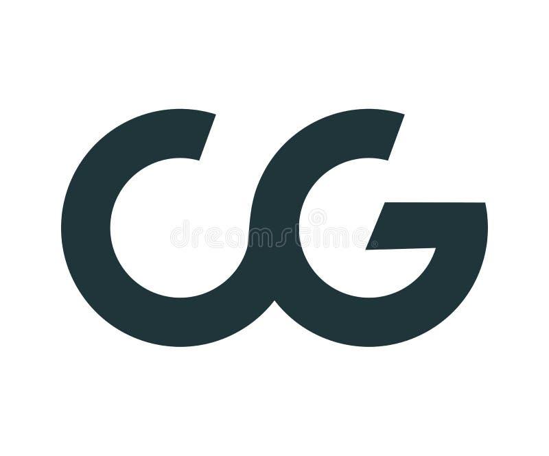CG Logo Design vektor abbildung. Illustration von regelkreis ...