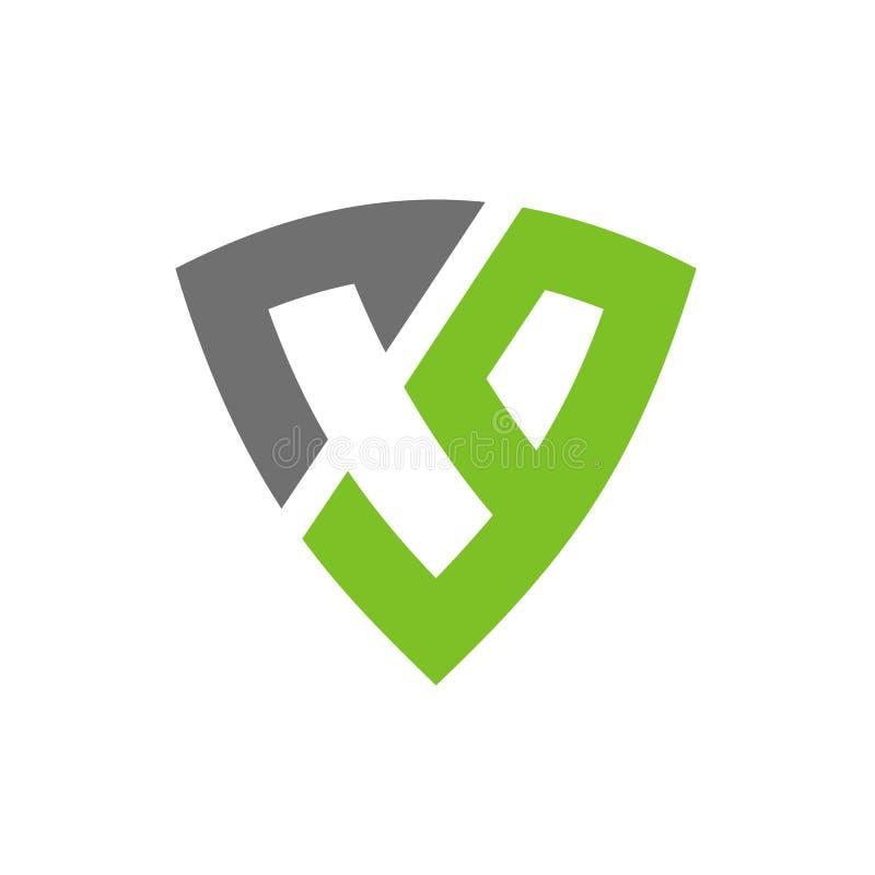 CG o C9 Logo Design, combinado con símbolo del escudo, vector Logo Illustration del alfabeto ilustración del vector