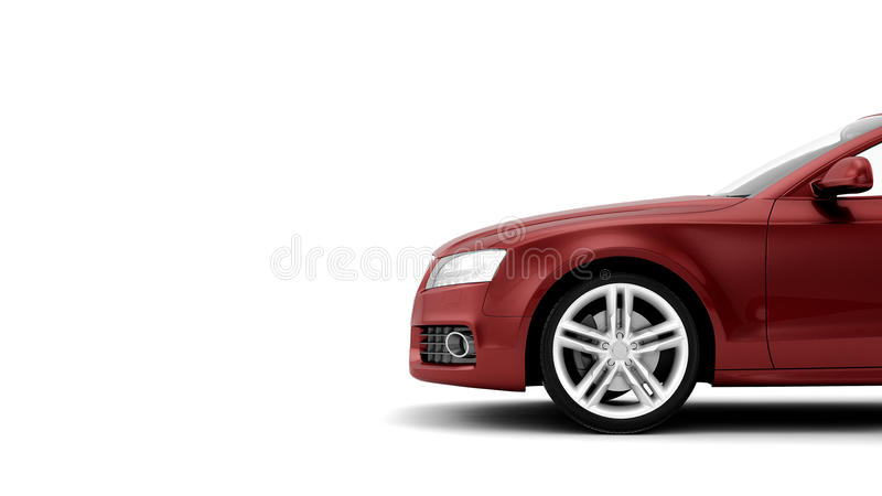 CG render of generic luxury coupe car royalty free illustration