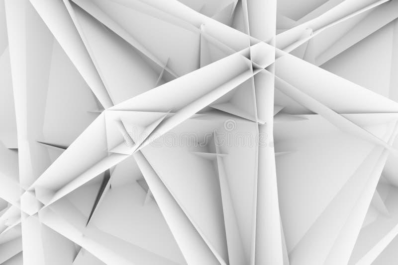 CGI,任意几何,背景图形设计的或墙纸的例证 灰色或黑白b&w 3D回报 库存例证