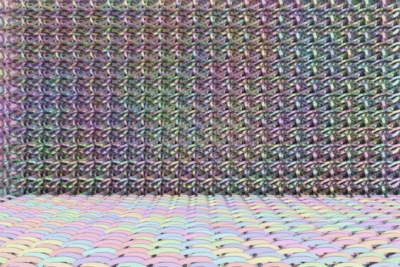 CGI composition, string mat, geometric backdrop for design texture, background. 3D render. Background abstract, string mat geometric backdrop CGI composition royalty free illustration