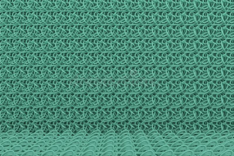 CGI composition, string mat, geometric backdrop for design texture, background. 3D render. Abstract geometric backdrop string mat, CGI composition, for web page vector illustration